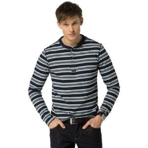Cotton Jersey Stripe Henley | Tommy Hilfiger USA