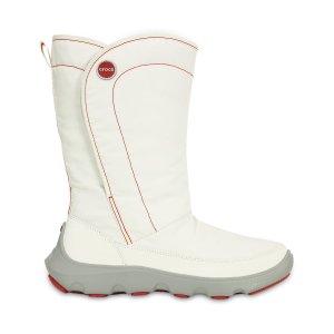 Crocs White & Light Gray Duet Busy Day Boot - Women | zulily