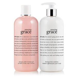 amazing grace   amazing grace bath duo   philosophy amazing grace