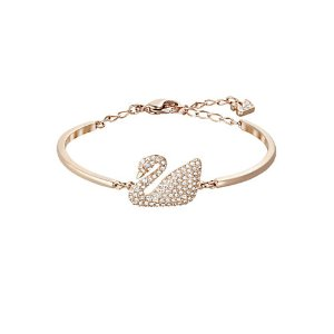 Swan Crystal Bangle Bracelet