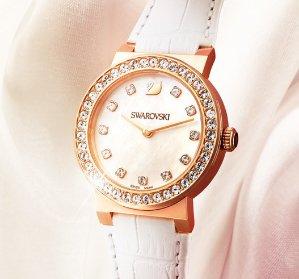 Swarovski Citra Sphere Mini White Rose Gold Tone Watch