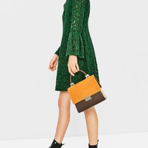 MINI CITY BAG WITH SPLIT SUEDE FLAP - View all-BAGS-WOMAN | ZARA United States