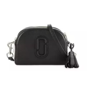 Marc Jacobs Shutter Small Leather Camera Bag, Black