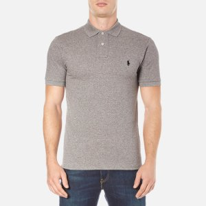 Polo Ralph Lauren Men's Short Sleeve Slim Fit Polo Shirt - Canterbury Heather - Free UK Delivery over £50