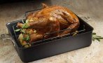 $29.99 Cooking with Calphalon Hard-Anodized Nonstick Roaster and Rack