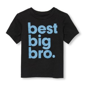 Toddler Boys Short Sleeve 'Best Big Bro' Graphic Tee | The Children's Place