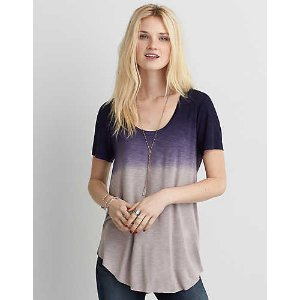 AEO Soft & Sexy Short Sleeve T-Shirt , Indigo | American Eagle Outfitters