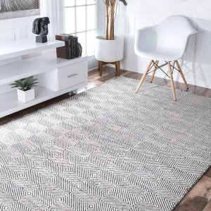 nuLOOM Handmade Concentric Diamond Trellis Wool/ Cotton Rug - Free Shipping Today - Overstock.com - 14959776