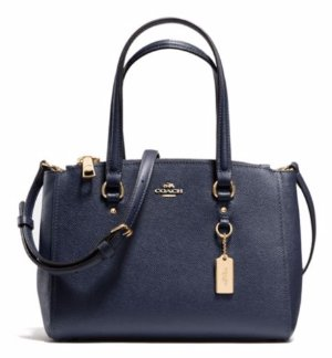 COACH Textured Leather Satchel