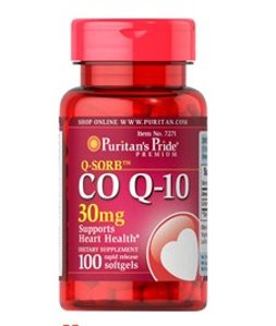 5 for $23.98 + Up to $15 Off Puritan's Pride Q-SORB Co Q-10 30mg, 100 Softgels