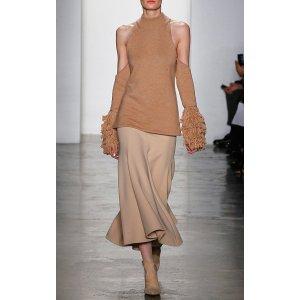 Loopy Yarn Cold Shoulder Pullover by Jonathan Simkhai | Moda Operandi
