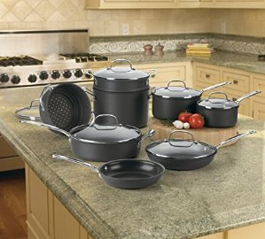 $134.90Cuisinart 66-14 Chef's Classic Nonstick Hard-Anodized 14-Piece Cookware Set