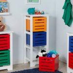 RiverRidge Kids Cool Colors 3-Bin Storage Cabinet