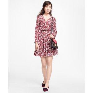 Floral Silk Dress - Brooks Brothers