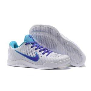 Nike Kobe 11 Low - Men's - Basketball - Shoes - Kobe Bryant - White/Court Purple/Blue Lagoon