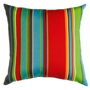 $5.98 Garden Treasures Stripe Square Throw Outdoor Decorative Pillow