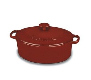 Cuisinart CI755-30CR Chef's Classic Enameled Cast Iron 5-1/2-Quart Oval Covered Casserole