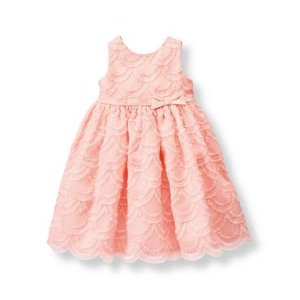 Baby Girl Light Rose Embroidered Organza Dress at JanieandJack