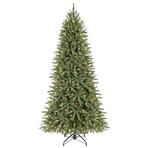 Shop Holiday Living 6.5-ft Pre-Lit Walden Pine Artificial Christmas Tree with White Clear Incandescent Lights at Lowes.com