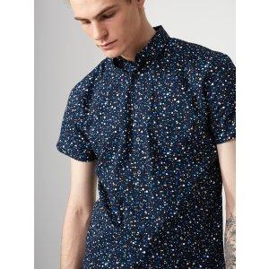 Paint Drop Cotton-Poplin Shirt | Frank + Oak