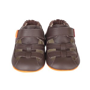 Brown Colorblock Sandal Mini Shoez Baby Shoes | Robeez