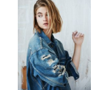 R13 - Oversized Distressed Denim Jacket - saks.com