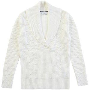 Shawl Collar Fisherman Cable Sweater