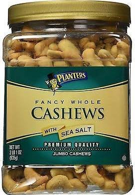 Planters Fancy Whole Cashews with Sea Salt - 33 oz