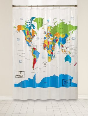 Saturday Knight The World Peva Shower Curtain