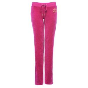 LOGO VELOUR GEO CROWN DEL REY BOOTCUT PANT - Juicy Couture