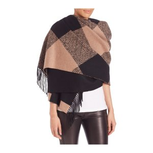 Oversized Check Cashmere Scarf by Burberry