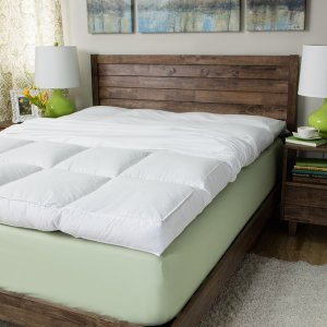 Super Snooze 5-inch 230 Thread Count Baffled Featherbed Set - 1125204 - Overstock.com Shopping - Great Deals on National Sleep Products Down Featherbeds