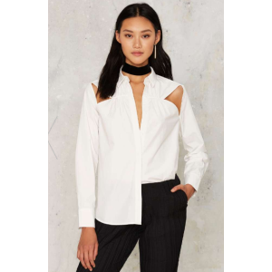 Nasty Gal Give It a Tri Cut-Out Shirt
