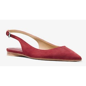 MICHAEL KORS COLLECTION Kaja 麂皮平底鞋
