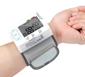 Magicfly Wrist Blood Pressure Monitor with Case, FDA Approved, Heart Zone Guidance and Irregular Heartbeat Detector