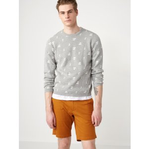 Double-Jacquard-Cotton Crewneck Sweater | Frank + Oak