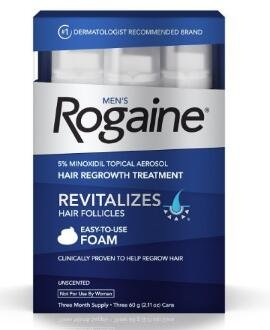 $32.39 Men's Rogaine Foam, Three Month Supply
