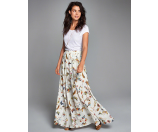 Womens Patterned Maxi Skirt