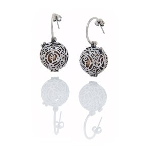 Oxidized Silver Fragrance Earrings