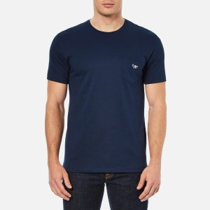 Maison Kitsuné Men's Tricolor Fox T-Shirt - Navy - Free UK Delivery over £50
