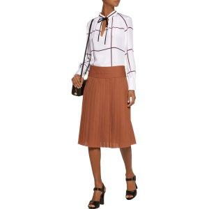 Pleated silk skirt | Derek Lam