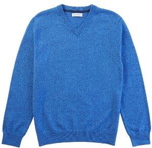 Nautica Men's Solid V-Neck Sweater