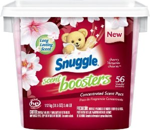 Snuggle Laundry Scent Boosters Tub, Cherry Blossom Charm, 56 Count