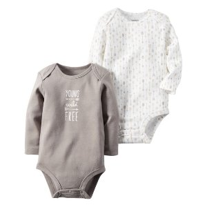 Baby Boy 2-Pack Long-Sleeve Bodysuits | Carters.com