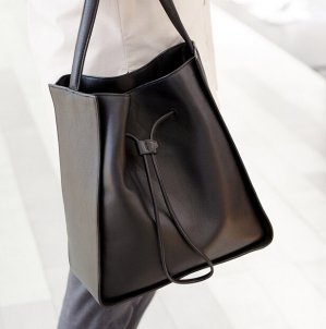 $526(reg.$1095) 3.1 Phillip Lim  Black Suede & Leather Large Soleil Bucket Bag