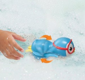 $2.77 Munchkin Wind Up Swimming Penguin Bath Toy, Blue