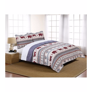 LivingQuarters Winter Wonderland Microfiber Down Alternative Comforter | Bon-Ton