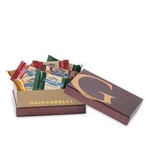 Ghirardelli Brown Metallic Gift Box