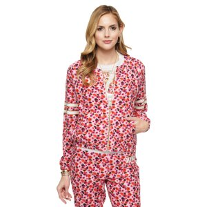 Micro Terry Marina Floral Jacket | Juicy Couture