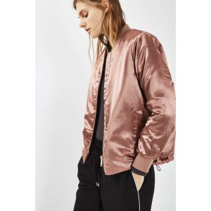 Shiny Bomber Jacket - Sale - Sale & Offers - Topshop USA